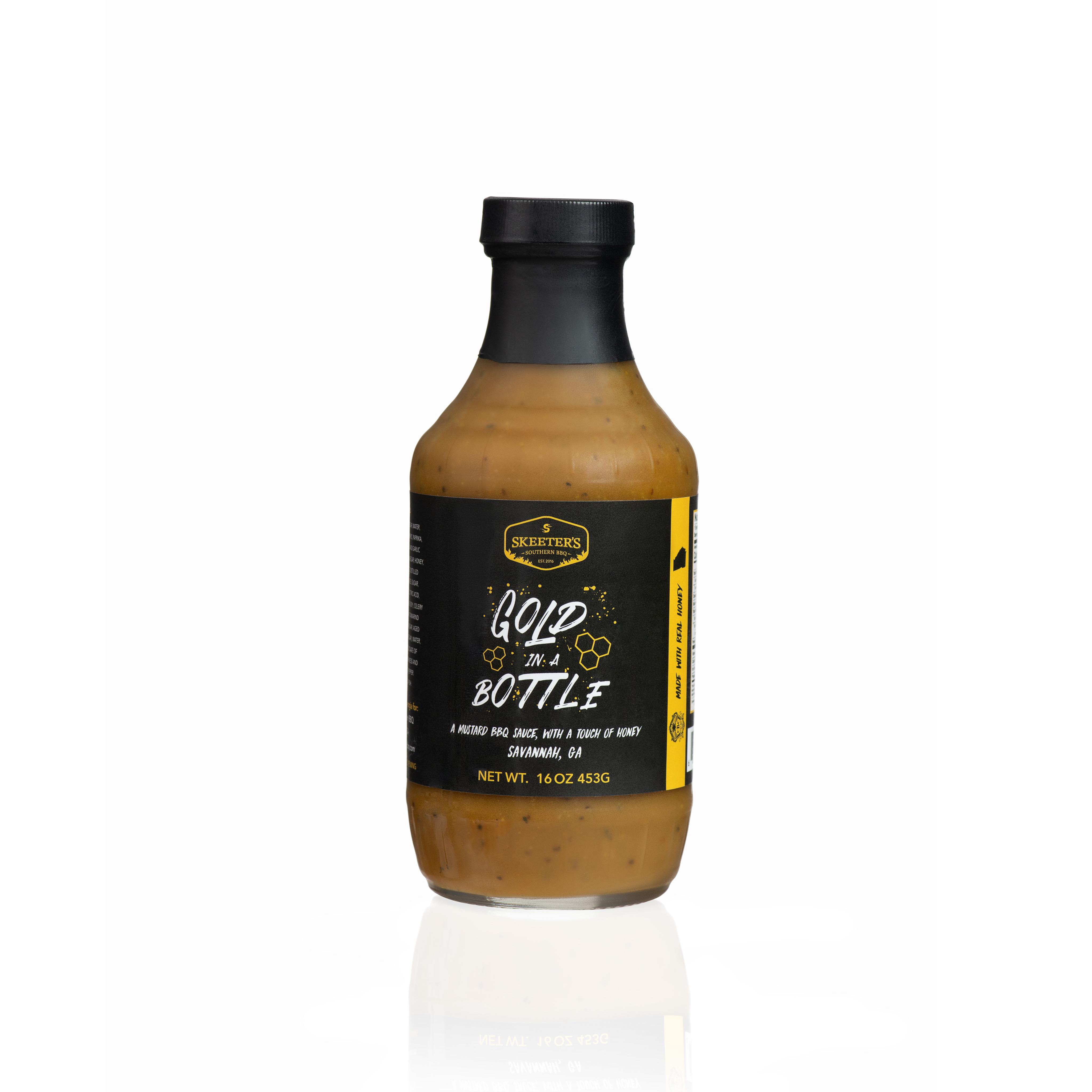Gold In A Bottle BBQ Sauce by Skeeters Southern BBQ